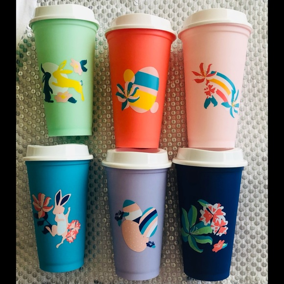 🌸Starbucks 6 16oz Spring Collection Cups